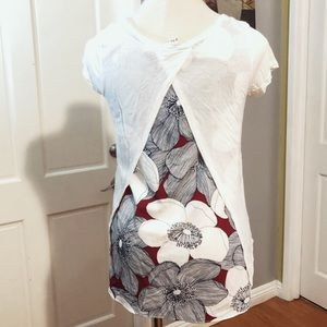 MERONA High Low Viscose Floral Top